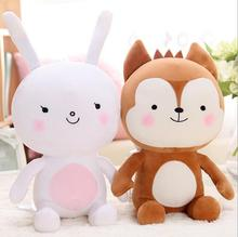 40cm Descendants of the Sun Plush Toy, Camouflage uniforms Fox Plush And Rabbit Plush Toys 1PCS  Stuffed Animal Doll For gift