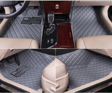 Good quality! Special floor mats for BMW 7 series 2014-2008 waterproof  durable leather carpets for 7 series 2015,Free shipping(China (Mainland))