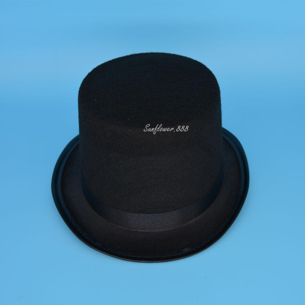 2017 NEW Black Boy Girls Children Magician Circus Top Hat Fancy Dress Hat Cap Costume Cosplay New(China (Mainland))