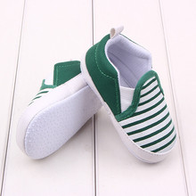 2016 Spring Autumn Fashion Sneakers 0-2Years Baby Shoes Navy Striped  Green Khaki Black 3 Colors Toddler Infant Shoes(China (Mainland))
