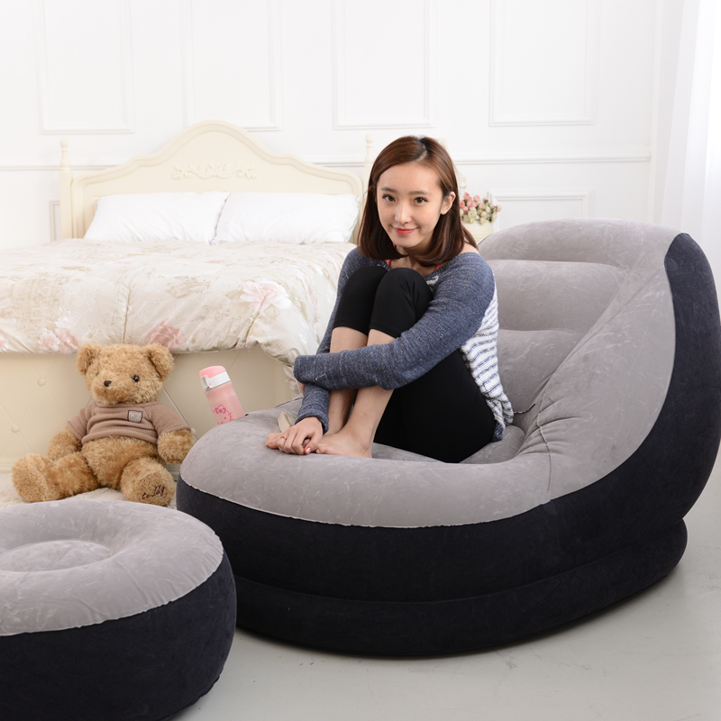 EC EC inflatable sofa bed linen creative people beanbag chair cushion thickening lovely recliner chair recliner FREE SHIPPING(China (Mainland))