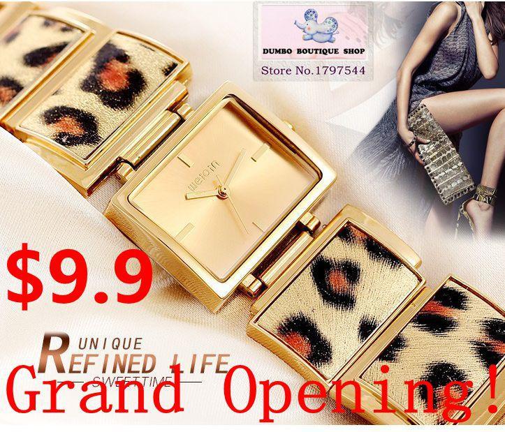 Unique Wild and Intractable Luxury Leopard Watch Fashion Quartz Watch Women Dress Watch Bracelet Designer Watches 2015 New(China (Mainland))