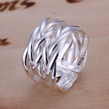 Free shipping 925 sterling silver jewelry ring fine fashion weaving ring top quality wholesale and retail SMTR022