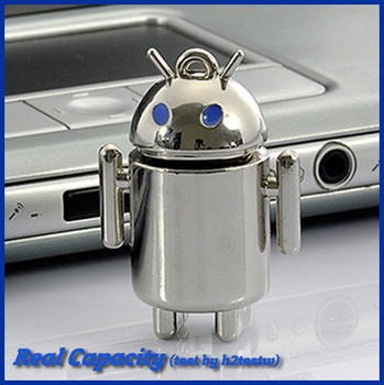free shipping pendrive andriod usb flash drive metal pen drive robot steel usb stick 4gb 8gb 16gb 32gb cool gift