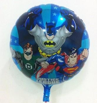 10Pcs/Lot Round Shaped Batman Foil Balloons Superhero Balloons Toy