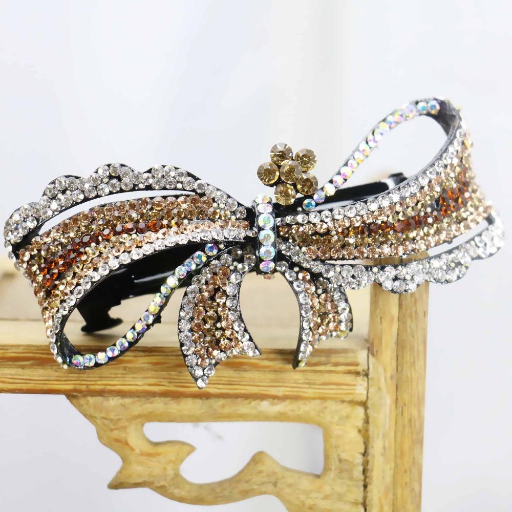 40*85mm Hot style Wedding Headdress Gifts For women Girls Hair Accessory Clip Hair band Female Jewelry Design Rhinestone(China (Mainland))