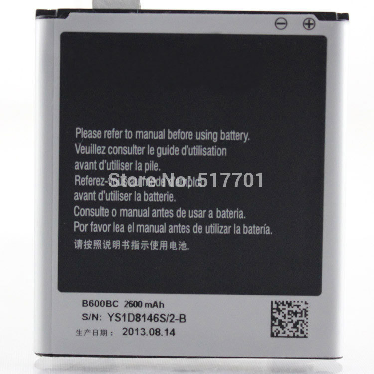 Free shipping high quality mobile phone battery B600BE/B600BC for Samsung S4 I9500 I959 I9502 I9508 i9295 i9505 i9506 I545 R970