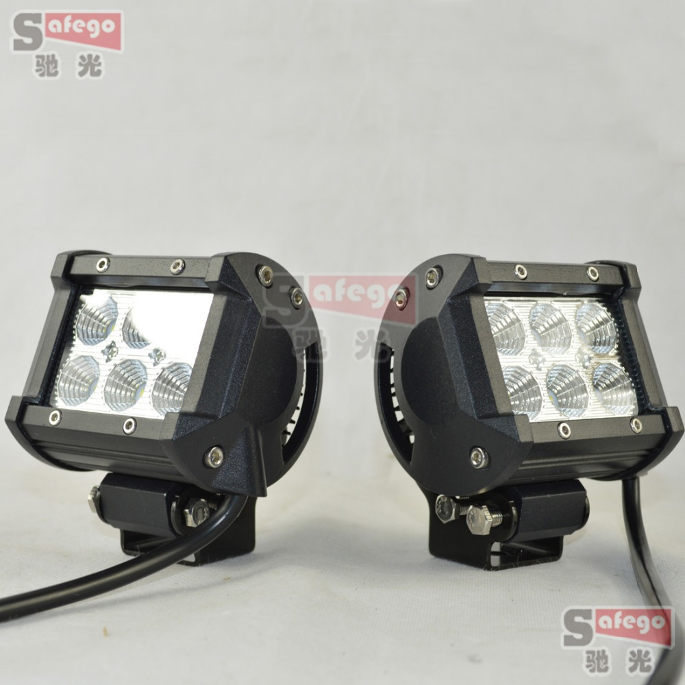 Safego Led Lights 4 Inch 18w Work Lite : Pcs inch xbd led light bar w spot flood for off road