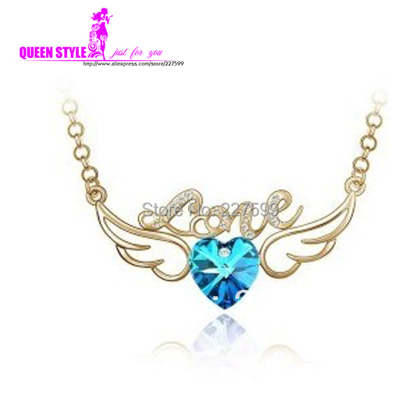 Fashion Natural Amethyst Heart Necklace For Best Firends Birthday Gifts Necklaces Party Girlfriend Vintage Love Necklaces(China (Mainland))