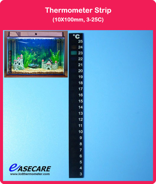 10pcs/lot Free Shipping Aquarium Thermometer for Fish Tank, 3-25 degree in Celsius scale(China (Mainland))