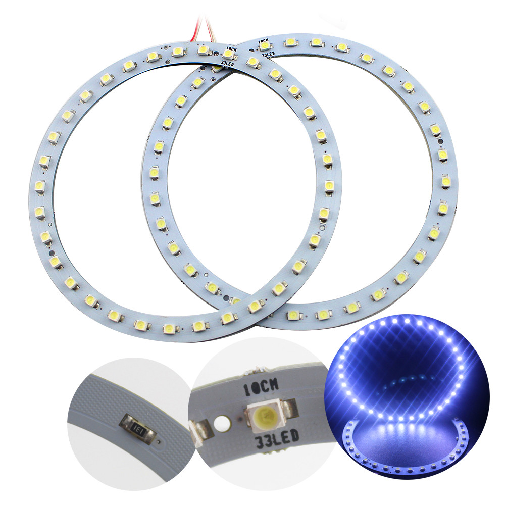 100MM!! 4Pieces(2pairs) Auto Halo Rings COB100mm Angel Eye Car Headlight Motorcycle White Super Bright 12V Led(China (Mainland))