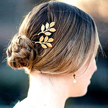 Buy Bestselling Gold-color Leaves Bridal Hair Pins Fashion Jewelry Wedding Hair Accessories Hair Pins Clips 2015 New for $1.08 in AliExpress store
