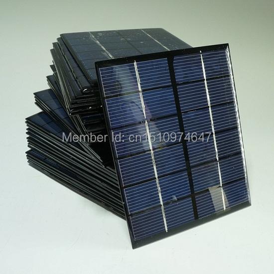 Wholesale! 6V 2W Mini Solar panel Solar Cell DIY Solar System Polycrystalline Solar Module136*110*3MM 10pcs/lot Free Shipping(China (Mainland))