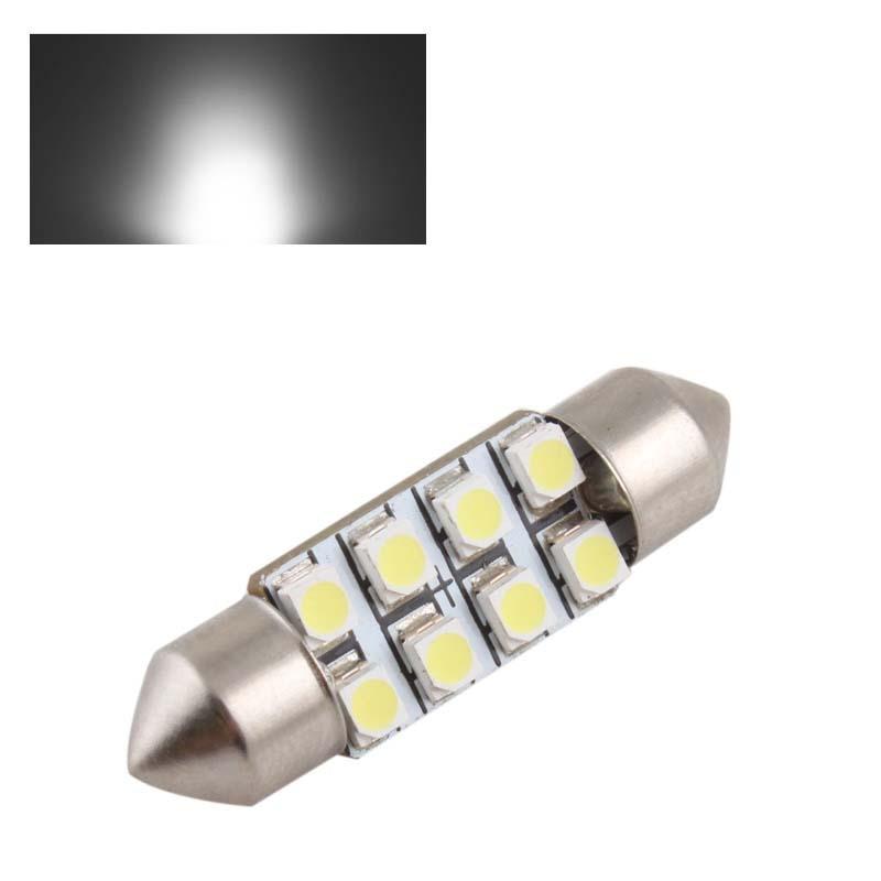 Powerful Pure White 36mm Car Auto Interior 8 LED 3528 SMD Light Festoon Dome Lamp Bulb # 24914 - BeFocus store