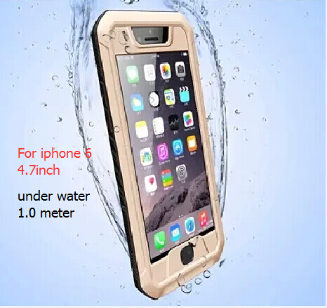 Original extreme love phone cover case For apple iphone 6 4.7 Metal Aluminum Waterproof Powerful mei Case with Gorilla Glass(China (Mainland))