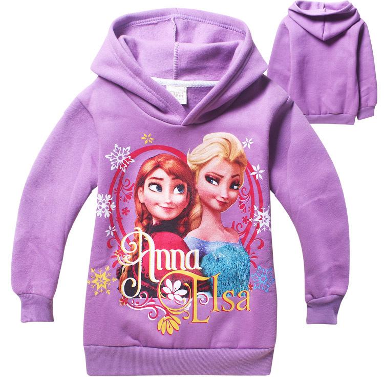 New Autumn& Winter Fleece Children Hoodies Girls&Boys Sweatshirts Hooded Elsa Anna Cotton Long Sleeve Kids Teenage Clothes D20(China (Mainland))