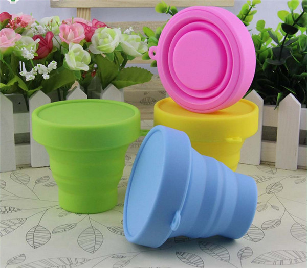 50 pcs Portable Travel Silicone Collapsible Folding Cups Outdoor Sports Camping Hiking Telescopic Gargle Mug