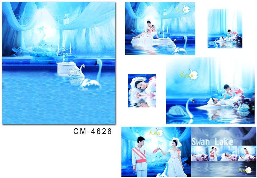 newborn photographic 300cm*200cm Yarn blue swimming pools CM-4626(China (Mainland))