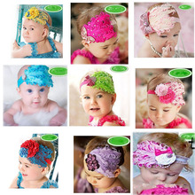 Fashion Infant Baby Toddler Cute Hair Accessories Kids Feather Hair Band Baby Girl Headband Flower Elestic
