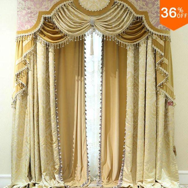 acheter 2016 or volets avec cantonni re perles la classique rideaux pour. Black Bedroom Furniture Sets. Home Design Ideas