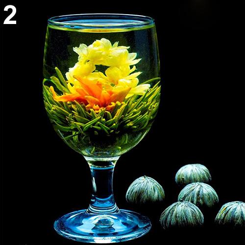 Гаджет  Hot 4 Balls Different  Blooming Flowers Healthy Green Tea  Wedding Gift   None Еда