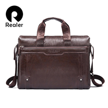 New brand men's pu leather briefcase computer Laptop Bag Business handbag Men's Travel Bags Retro Briefcase brown black(China (Mainland))