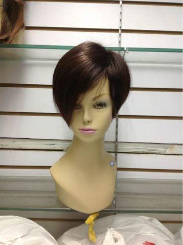 Free Shipping charming short brown pretty women's wig Wigs+weaving cap(China (Mainland))