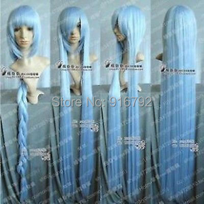 FREE SHIPPING &gt;&gt;Project /Eirin / Hannah Cosplay Long ICE Blue Wig 1m<br><br>Aliexpress