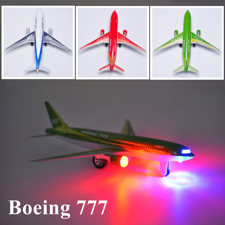 Hot Toy Electronic 2014 new Baby and Toddler Toy Boeing 777 Jet Airliner Pull Back Metal Plane Model Classic Gift for Kid Boy(China (Mainland))