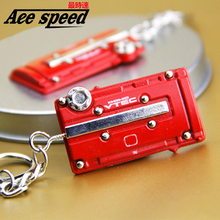 ACE-Aluminum keychain For Honda Type R style EK/EG B series Engine cover keychain JDM style key ring