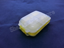 White Yellow 3 Layer 8 Compartments Electronic Components Case
