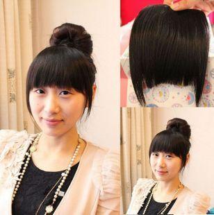 Human Real hair fake fringe invisible real hair bangs qi the side fringe<br><br>Aliexpress
