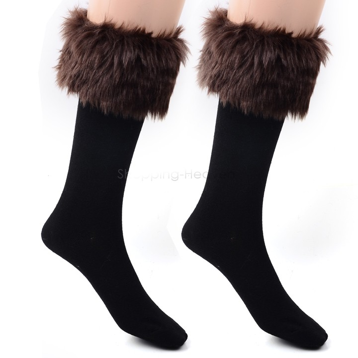 Free shipping!women Winter socks female Long Boot fit Faux Fur wool socks 35(China (Mainland))