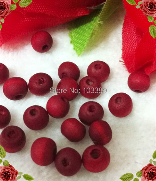 free shipping 1000pcs/pack cheap 7mm wooden bead with rose scent , rosary bead, red bead for religious rosary special offer(China (Mainland))