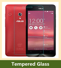 glass film 2.5d Rounded Edges 9H 0.3mm Nanometer Tempered Glass screen protector For Asus Zenfone 5 A500CG A501CG
