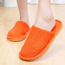 Candy Colors Cotton Slippers Women Thick Warm Winter Indoor Slipper Home House Slippers Shoes Free Shipping 7001