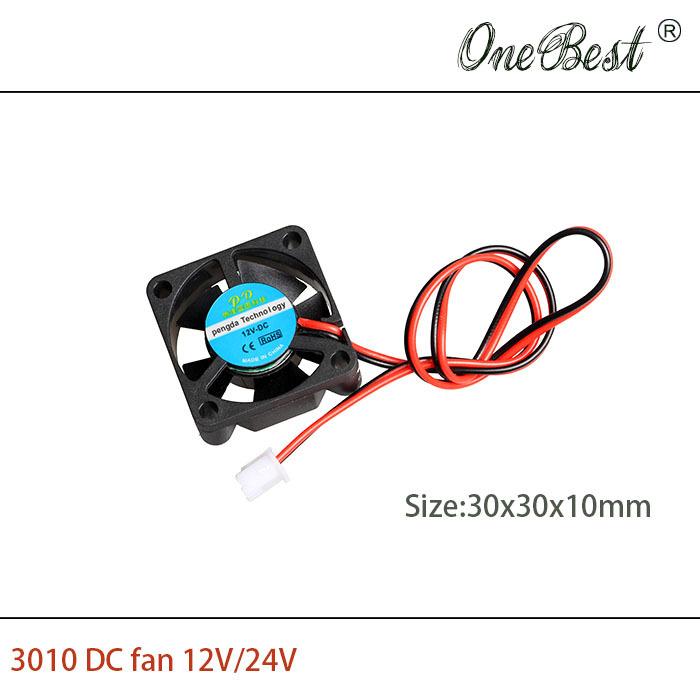 10Pcs DIY Parts 3010 cooling fan DC 12V 0 1A for 3D printer accessories 30x30x10mm 30