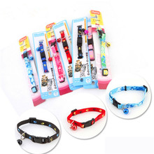 Cute and fashinable Adjustable  Nylon Small Bells necklace cat collar for cat/dog(China (Mainland))