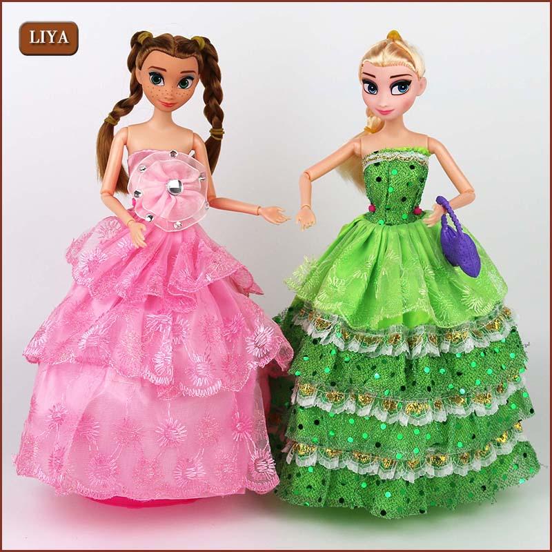2016 Fashion Princess Elsa Anna Doll Snow Queen Children Girls Toys Birthday Christmas Gifts For Kids Sharon Dolls<br><br>Aliexpress