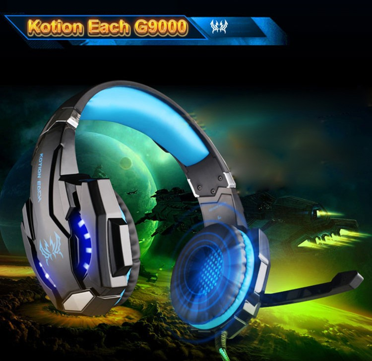 KOTION EACH G9000 3.5mm Game Gaming Headphone Headset Earphone With Microphone LED Light For Laptop Tablet Mobile Phones Xbox ONEPS4 (22)