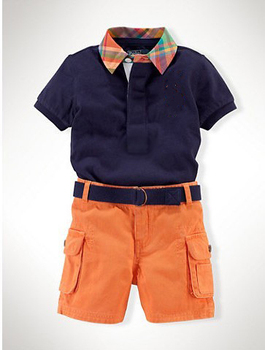 Branded baby clothes/2-piece set: shirts with turn-down collar+ short pants/2013 new arrival
