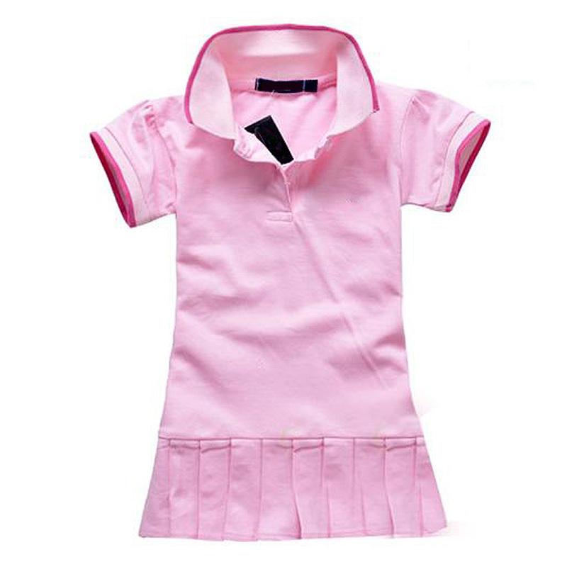 Children Dress(1-5y) New Spring Summer 2014 Baby/Infant Girls Brand Polo Dress children/kids Princess tennis One-piece Dresses(China (Mainland))