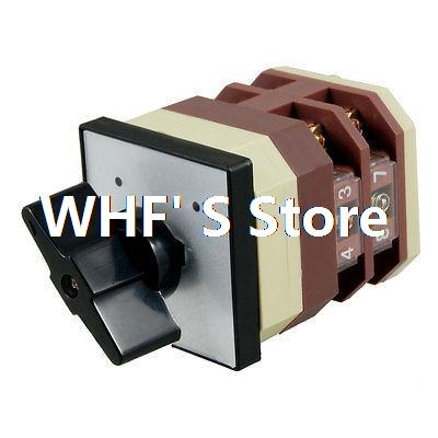 Latching Locking AC 380V 16AMP 2 Position Cam Combination Changeover Switch(China (Mainland))