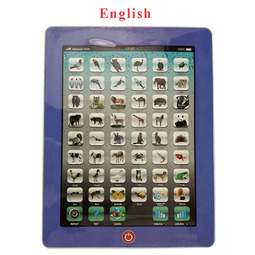 English Alphabet Language Sound Learning Machine Children Educational Tablet Kids Computer Ipad Toy Pad Baby Laptop(China (Mainland))