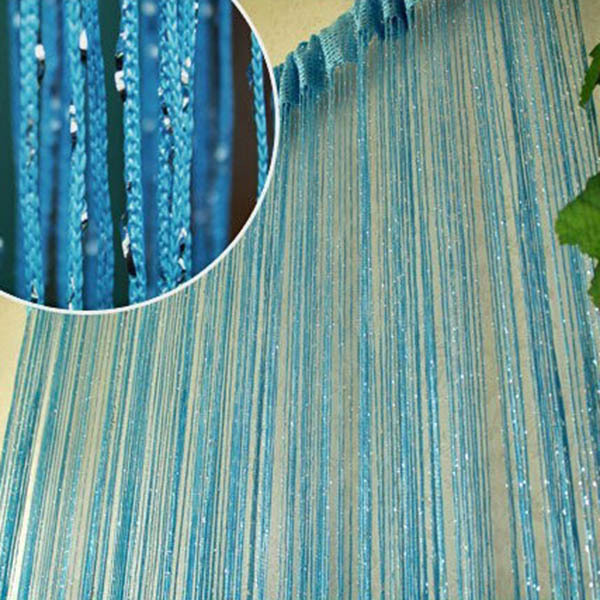 Special Silver Silk String Curtain Living Room/Door Partition Sheer Curtain(China (Mainland))