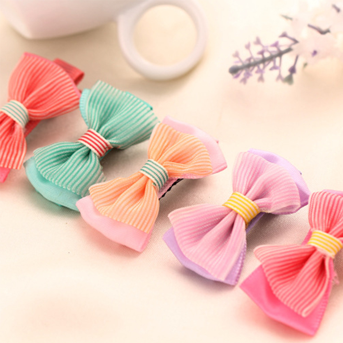 6pcs/lot 2015 New Fashion Baby Girl Bow Hairpin&Hair Clip Lace Dec Princess Hairpin for Girls(China (Mainland))