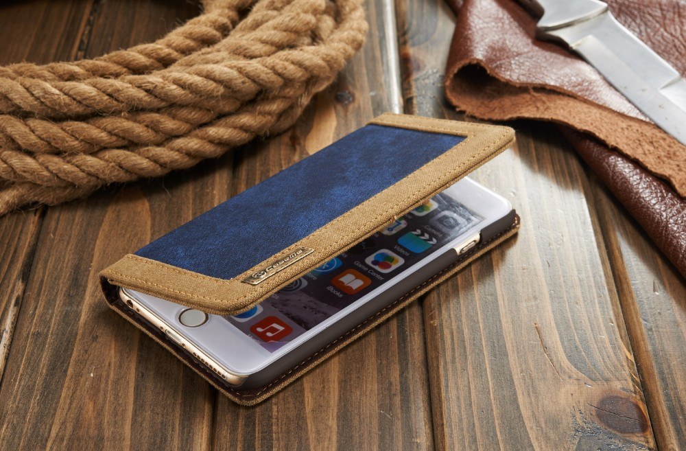 For iPhone 6 6s 4.7 inch Phone case Retro luxury Magnets flip Waterproof canvas cowboy style leather cover Wallet +Card Holder