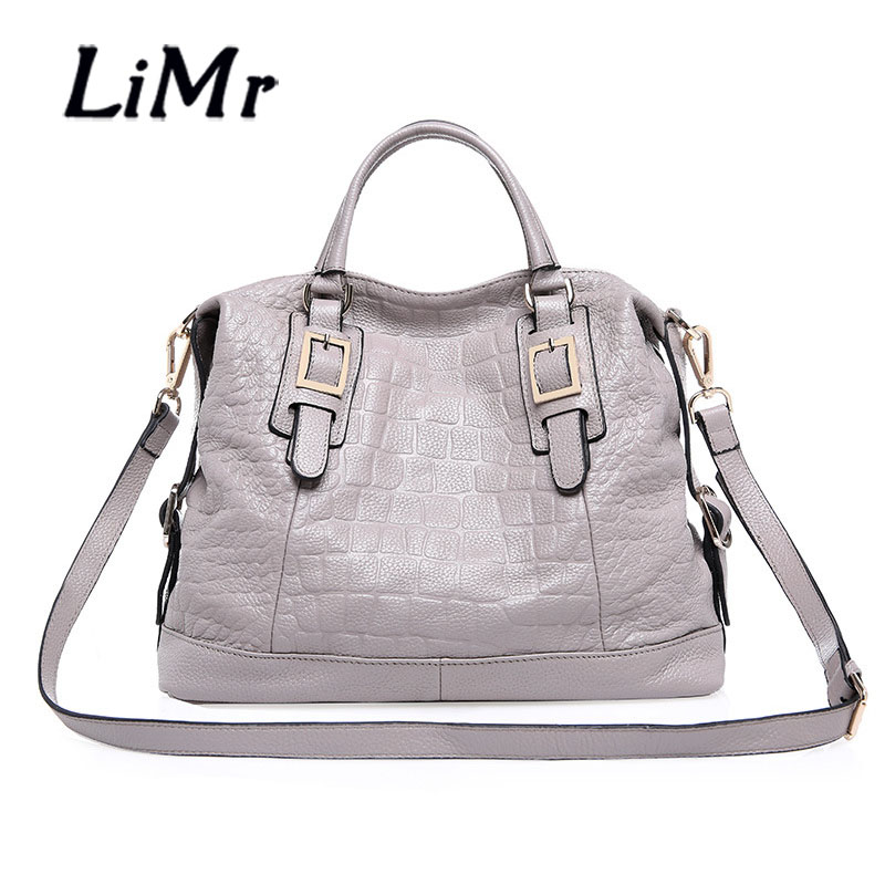 LiMr Bags New Genuine Leather Women Handbags Cowhide Leather Shoulder Bags Free Shipping<br><br>Aliexpress