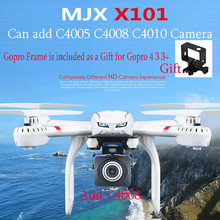 Drones MJX X101 Quadcopter 2.4g 6-axis Rc Helicopter Drone with Gimble can Add C4005 C4010 C4008 FPV Wifi Camera Hd Vs X8c X8G