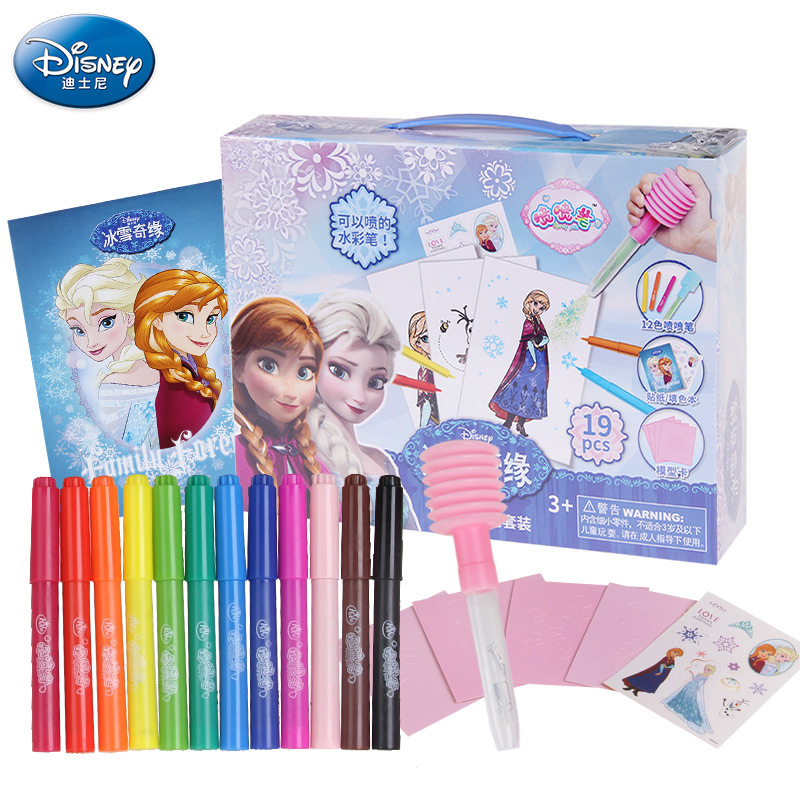 2015 New Arrival Anna Elsa 12 Can Spray Watercolor Magic Novelty Pen Drawing Painting Writing Educational Kids Doodle Toys Gift<br><br>Aliexpress